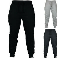 MENS SLIM FIT TRACKSUIT BOTTOMS SKINNY JOGGERS SWEAT PANTS JOGGING GYM TROUSERS