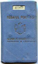 Kingdom of Romania 1938 King Carol II Foreign Traveling Passport,visas