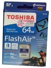 Toshiba Flash Air W-04 Wifi / Wireless SD Memory Card 64GB - UHS-I Class 3