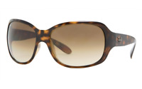 New Ray-Ban RB4118 710/51 Shiny Havana Butterfly Wrap Sunglasses Italy