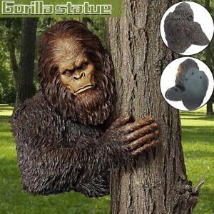 Orangutan ornaments Bigfoot The Bashful Yeti Tree Statue  Whimsical Sculpture