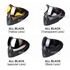 FMA Airsoft Mask F1 Sicurezza Anti-Fog Goggle Full Face Maschera Paintball Mask