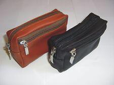 borsetto cintura nero  001  portaoggetti cellulare tasca portafoglio vera pelle