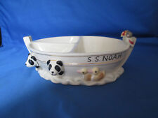 Lenox Noah's Ark Baby Food Dish 3 Sections Bears Giraffes Birds Dolphins Gold