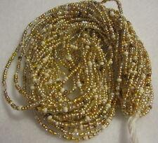 10/0 HANK GOLD MIX CZECH GLASS SEED BEADS