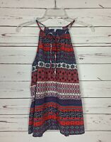 Collective Concepts Stitch Fix Women's S Small Red Boho Cute Sleeveless Top Tank