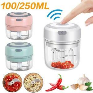 Mini Electric Chopper Food Processor Garlic Press Mixer Vegetable Blender Cutter