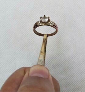 Rare Ancient Bronze Ring Roman Wedding Artifact Unique Ring Bronze White Stone