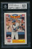 1988 Topps Glossy All-Stars Darryl Strawberry Blank Back BGS 8.5