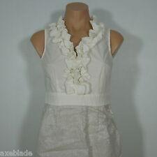 ANN TAYLOR LOFT Petites Sheath Ruffle Dress with Linen Metallic Bottom Skirt- 0P