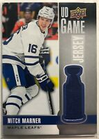 2019-20 Mitch Marner Upper Deck UD Game Jersey #GJ-MM Toronto Maple Leafs