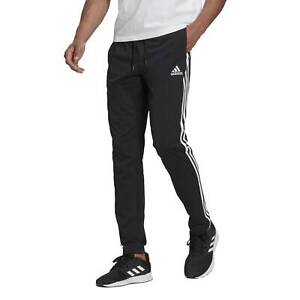 Adidas Pantalone da Uomo Essentials Single Jersey Tapered Open Hem 3-Stripes ...