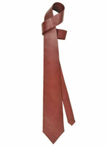 HANDMADE NECK TIE FOR MEN 100% REAL LAMBSKIN LEATHER CLASSIC COLLECTION