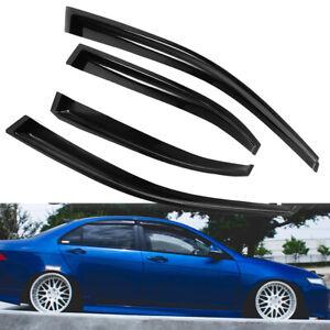 For 04-08 Acura TSX 4Door Window Visor Smoke Deflector Guard Sun/Wind/Rain Guard