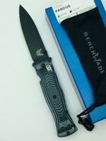 * BENCHMADE 531BK MEL PARDUE AXIS LOCK KNIFE PLAIN EDGE BLACK BLADE G10 HANDLE
