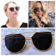 AYZA Cateye So Hot Real Design Sonnenbrille Damen Vintage Fashion Schwarzgold