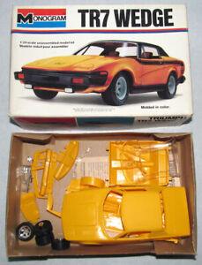 RARE Vintage 1/24 Monogram Triumph TR7 Coupe Model Kit Complete in Original Box