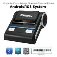 2600mAh 80mm Bluetooth USB Receipt Thermal Printers ESC/POS POS Printing Machine
