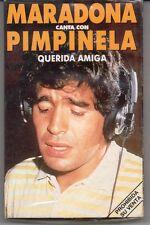 "MARADONA CON PIMPINELA ""QUERIDA AMIGA"" RARE SPANISH PROMO CASSETTE- NEW & SEALED"