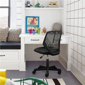 Armless Office Chair Computer Desk Chair Fabric Mesh Chair Bedroom Swivel Chair