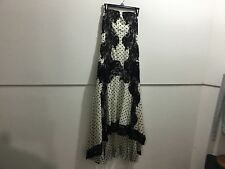 Free people ladies size 10 gorgeous lace detail asymmetrical hem dotted straples