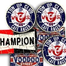 CAFE RACER STICKERS RUST PACK BY VOODOO STREET™, race, brat, pick n mix, TT, NEW