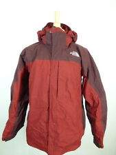 THE NORTHFACE GARNET DARK  RED ZIP HOODED COAT PARKA HYVENT L Excellent