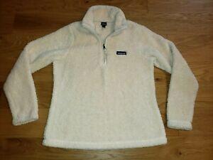 Patagonia Los Gatos Sherpa Fleece 1/4 Zip Pullover Sweater Natural Tan Medium