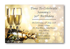 40 Personalised Birthday Party Invites Invitations 18th 21st 30th 40th 50th BD30