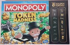 NIP Monopoly Token Madness board game with 8 golden tokens, sealed