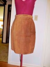 The Limited, Brown Suede Leather Skirt lined sz 8 - tag on, orig $60.00