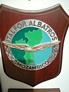 CREST WALL PLAQUE ALPINI   ONU ITALFOR MISSIONE ALBATROS MOZAMBICO ONUMOZ