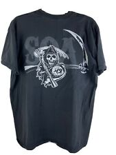 Sons Of Anarchy T-Shirt Men's XL Reaper Crew Black Tee Graphic Front Back