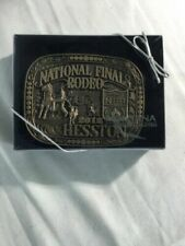 2012 Hesston Brass Adult Belt Buckle National Finals Rodeo