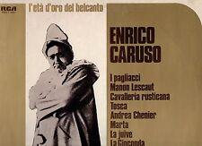 ENRICO CARUSO disco LP 33 giri L'ETA D'ORO DEL BELCANTO stampa ITALIANA 1976