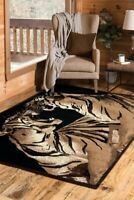 Double  Tigers   5x8  area rug for the home