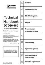 More details for kalmar dcd90–180 dcd70-32e3 70-40e5 technical manual reprinted 2002 edition