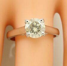 solitaire 1.15 ct real diamond wedding engagement ring 14k white gold ring