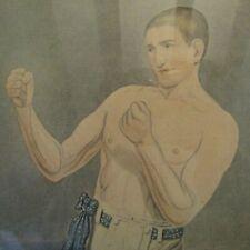 Antique dated 1846 sporting print RARE original engraving of Boxer Bendigo