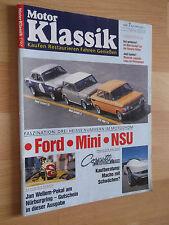 Motor Klassik Heft 7/1992; Hanomag Kommissbrot Rennwagen; Ford Escort TC
