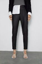 Zara Black Faux Leather Pants size M new with tags