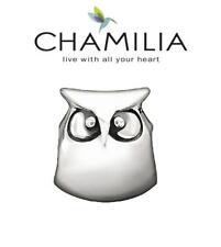 Genuine CHAMILIA 925 sterling silver OWL charm bead, woodland, wise, graduation
