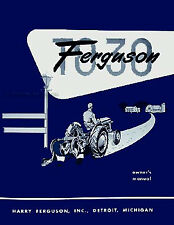 Ferguson TO 30 Tractor Owner Manual 1951 1952 1953 1954 TO30 Owners Guide Book