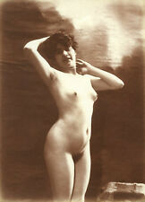 French Youthful NUDE Classic Pose Matte Paper Pictorialism 1890s ~ PARIS Latest!