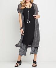 Plus Size Grey Shimmery Glenda Cardi / Vest Longline Design RRP $170 Size 22