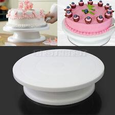 plateau plaque tournant gâteau présentoir support pâtisserie décoration blanc