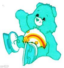 "3"" CARE BEARS WISH BEAR CHARACTER NOVELTY FABRIC APPLIQUE IRON ON"