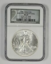 MS69 1986 American Silver Eagle - 20th Anniversary - Graded NGC *712