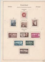germany 1953/54 democratic republic stamps page  ref 18753