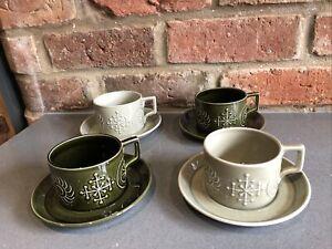 4 Vintage Mid Century Portmeirion Totem Cups And Saucers Susan Williams Ellis